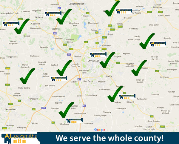 The areas we cover